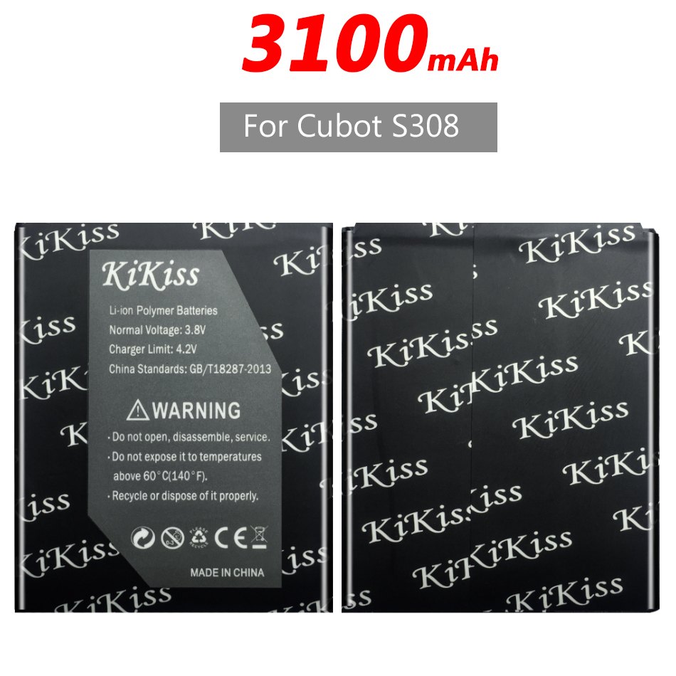 3100mAh For <font><b>Cubot</b></font> <font><b>S308</b></font> Mobile Phone <font><b>Battery</b></font> +Tracking Number image