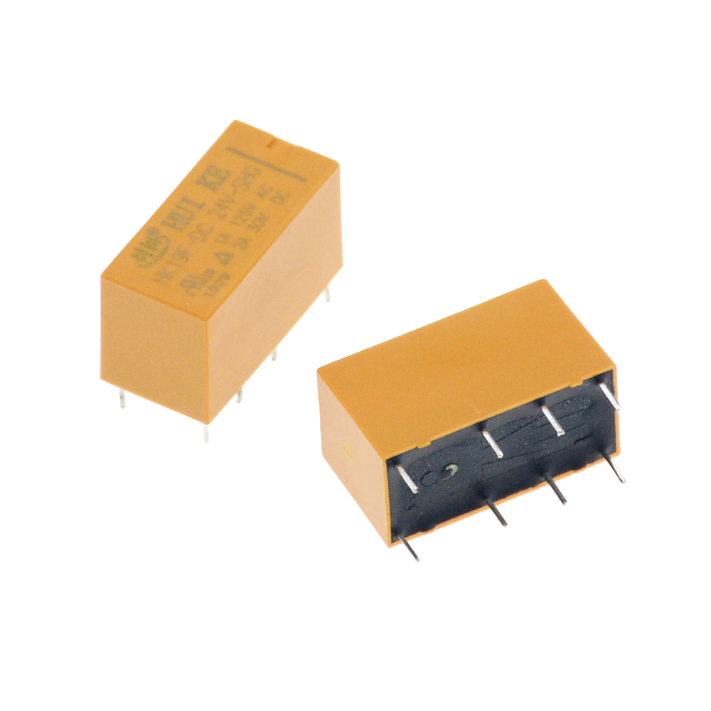 1Pcs DC 3V 5V 9V 12V 8 Foot 2A 2 Open 2 Closed Relay Communication Signal Relay Electromagnetic Relay