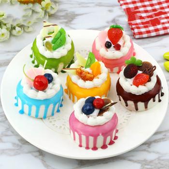 1 sztuk sztuczny kuchenny owoc ciasta deser fałszywy do dekoracji żywności fotografia Pro symulacja żywności ciasto Model stolik do herbaty dekoracji tanie i dobre opinie merylover 1 pc