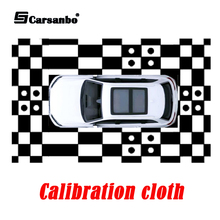 Camera-System Bird's-Eye-View Car-Surround-View Panoramic Calibration-Cloth 3D Keying