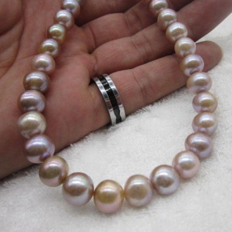 AAA HUGE NATURAL 10-11MM SOUTH SEA WHITE PEARL NECKLACE BRACELET 14K Clasp