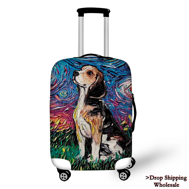 Travel Luggage Cover Case Bulldog Doberman Greyhound Dachshund Dog Animal Suitcase Protector Case Sofa Decorative Dropshipping Travel Accessories Aliexpress