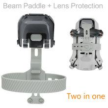 2 em 1 suporte da hélice + tampa de proteção da lente para dji mavic mini lâmina do motor fixo titular guarda protetor de armazenamento acessórios