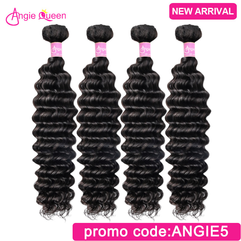 Deep Wave Hair Bundles Malaysian Hair Bundles Weaves 100% Human Hair Bundles Weft 3 Bundles Hair Remy Hair Bundles 20 22 24 26