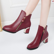 Autumn 2018 New Women Shoes Ankle Sexy Martin Boots Short Boots High-heel Fashion Pointed Europe Shoes Woman Plus Size 35-43 цена 2017