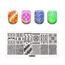 Manicure-Stencil-Set Stamping-Plates Nail Christmas-Style DIY for Image