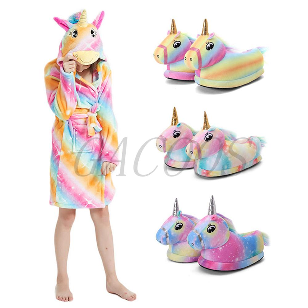 New Kids Bath Robe Baby Towel Children's Unicorn Hooded Bathrobes for Boys Girls Pajamas Infantil Sleepwear Teenager Bath Robe