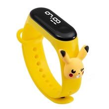 Wrist Watch For Kids Waterproof Cartoon Electronic Silicone Bracelet Touch Women