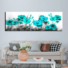 Canvas painting Modular Picture wall art abstract blue poppy flower poster wall pictures for living room posters and prints home wall art canvas painting 3d flower picture posters and prints golden flowers poster wall pictures for living room home decor