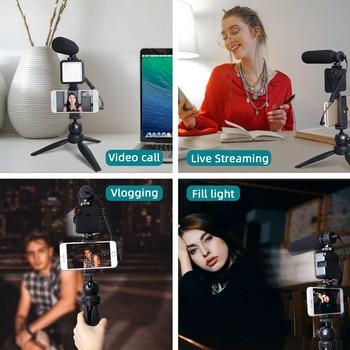 MAONO Live Streaming Video Microphone Kit Condenser Shotgun Mic for YouTube TikTok Vlogging Phone Camera With LED Light 2