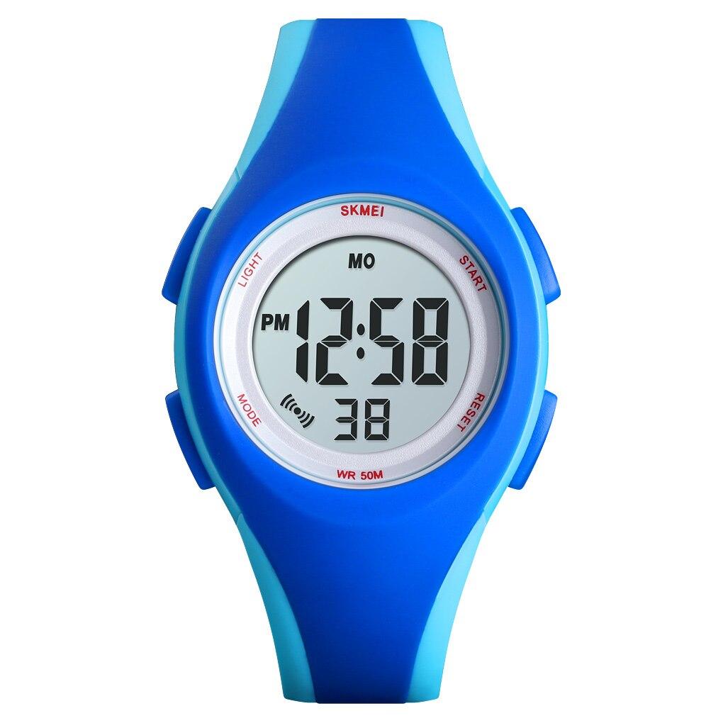 SKMEI Спорт Часы Дети Цифровые Часы Мода Повседневный Больше Цвета Часы Дети 5 бар Водонепроницаемый Световой Дисплей Montre Enfant