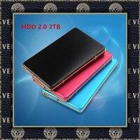 eekoo HDD 2TB Metal Case USB 2.0 Laptop Mobile Hard Drive External Hard Drives 2000G Monitoring externo Storage Free shipping