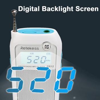 Мини-радиоприемник RETEKESS PR12 AM/FM MP3/TF-Card 3