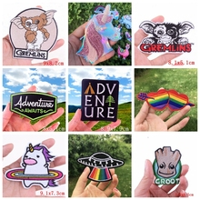 GIZMO Gremlin Animal Patch Iron On Patches For Clothing Alpaca Unicorn Embroidery Stripes Travel
