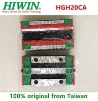 2 sztuk/6 sztuk 100% oryginalny Hiwin HGH20CA liniowy wąski prowadnica liniowa łożyska 20mm dla HGR20 prowadnica liniowa CNC router w Łożyska od Sport i rozrywka na