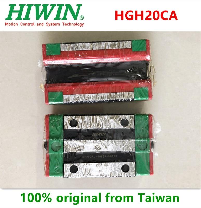 2pcs/6pcs 100% Original Hiwin HGH20CA Linear narrow carriage block bearings 20mm for HGR20 Linear guide rail CNC router bearing bearing bearing linear bearing block - title=
