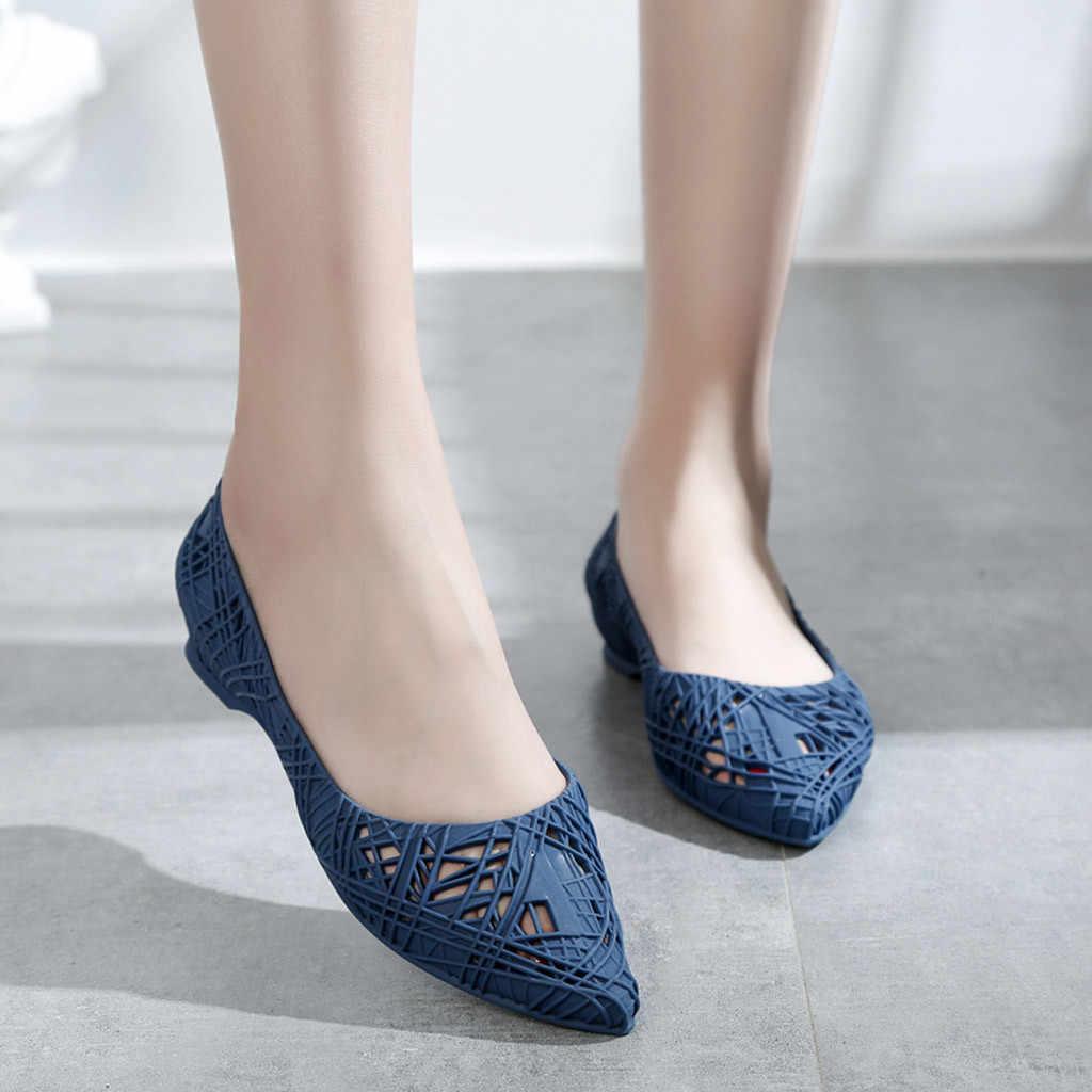 Jaycosin נשים של נעליים יומיומיות נמוך-למעלה מוצק צבע רך תחתון נוח נעל רטרו אחות Zapatos De Mujer Tacon Bajo