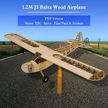 Danse ailes passe-temps S0804B Balsa bois RC avion 1.2M Piper Cub J-3 télécommande avion PNP Version avec moteur ESC Servo