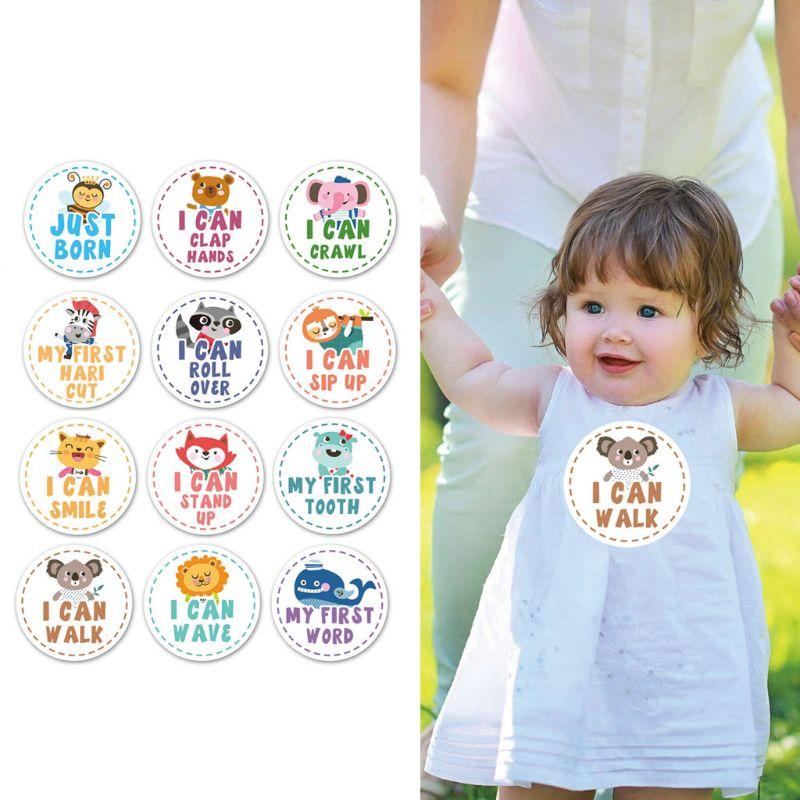 Baby Monthly Milestone Stickers Shower Gift Scrapbook Photo Memory Keepsake