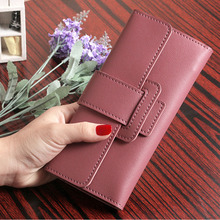 2019 Women Purse Fashion long Leather Wallet Luxury Brand Famous Vintage Female Fashion Wallets And Purse Credit Card Holder