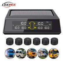 Sensor de llanta Solar TPMS 6, sistema de supervisión de presión de neumáticos, pantalla LCD Digital inalámbrica para camión, autobús, RV, electrónica de vehículos de gran tamaño