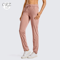 CRZ YOGA Women's Stretch Lounge Sweatpants Drawstring Travel Athletic Training Track Pants with Pockets