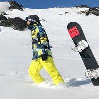 SMN Ski Jacket For Men Snowboard Coat Thermal Thicken Windproof Waterproof Mountain Skiing Snowboard Jacket Keep Dry