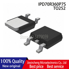 10 adet IPD70R360P7S 70S360 TO 252 700V 34A MOSFET yeni orijinal