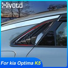 Hivotd-alerón trasero para ventana de Kia Optima K5 2021 2020, embellecedor de ventana lateral de ABS, decoración de persianas triangulares, piezas exteriores de alerón
