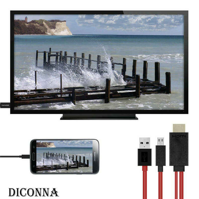 Micro USB untuk HDMI 1080P HD TV Kabel Adaptor Android Smart untuk Xiaomi Redmi Note 5 Pro Android Samsung s7 Mikro Charger