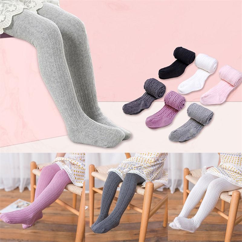 2019 Autumn Winter Leggings Baby Cotton Candy Color Pantyhose Kids Girls Ribbed Stockings Solid Leggings Girls Size 2-10 Years