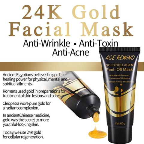 Gold Collagen Peel Off Mask 24K Gold Facial Mask Anti Aging Wrinkles Lifting Firming Whitening Tear Off Masks Skin Care TSLM1 Karachi