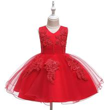 Baby Kids Flower Pretty Birthday Dresses Children Clothing Toddler Wedding Princess Dress Eveving Party Costume Clothes With Bow цена 2017