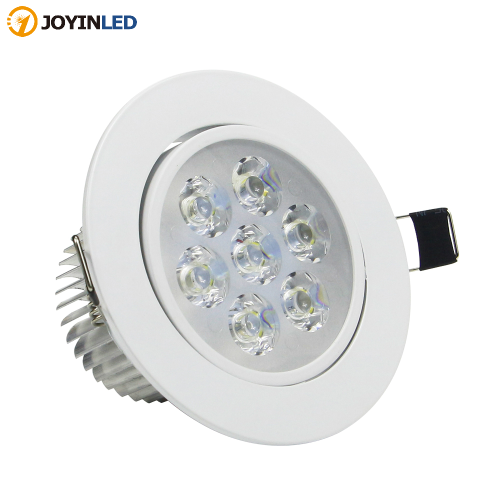 Dimmable AC85V-265V 7W/5W/<font><b>4W</b></font>/3W <font><b>LED</b></font> <font><b>Downlight</b></font> Warm White/White Spot Light Cree Ceiling Recessed Home Lighting Fixture image