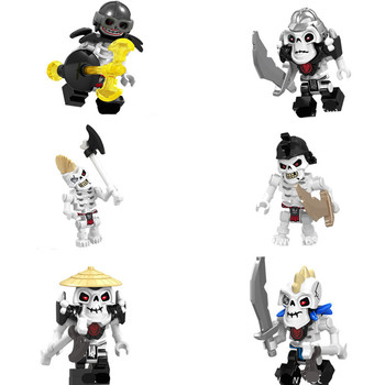 Blocks NinjagoiNgs Skeleton Bone Soilder Minifigs Figura Medieval Castle Knight Figurine Constructor Bricks Figures Kids Toy 1