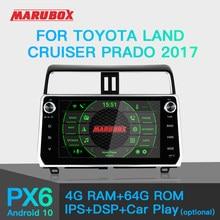 Marubox KD1007 Car Player for Toyota Land Cruiser Prado 2017+, Car Multimedia Player with DSP, GPS Navigation, Bluetooth, Wifi