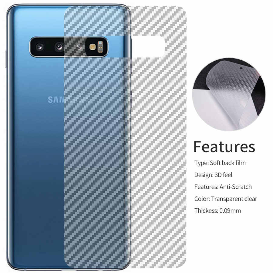 5pcs 3D Carbon Fiber Back Screen Protector Film Sticker cover For Samsung Galaxy S10 S9 A8 Plus S10E A7 2018 Note 9 8 Note9