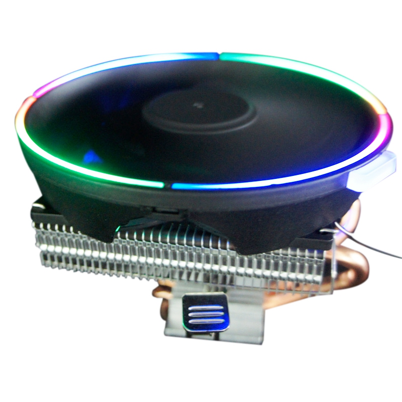 KEEPRO CPU Cooler 2 Pure Copper Heat Pipe Cooling Tower Down Pressure Cooling System <font><b>12</b></font> <font><b>cm</b></font> CPU Cooling <font><b>Fan</b></font> CPU Radiator for Inte image