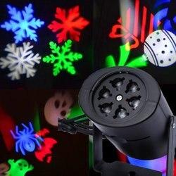 Gorąca sprzedaż lampy projektora laserowego oświetlenie sceniczne led śnieg na boże narodzenie światło krajobrazu lampa ogrodowa na zewnątrz Drop Shipping sprzedaż w Oświetlenie sceniczne od Lampy i oświetlenie na