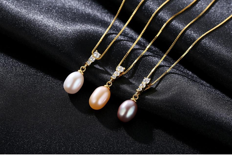 Nouveau pendentif perle d'eau douce S925 en argent Sterling mode collier pour femmes cadeau MGB06