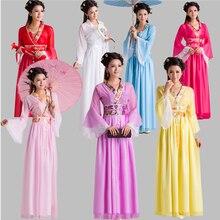 Vêtements traditionnels pour femmes, Nouveau Costume de fée chinoise pour enfants, robe folklorique Tang blanc Hanfu