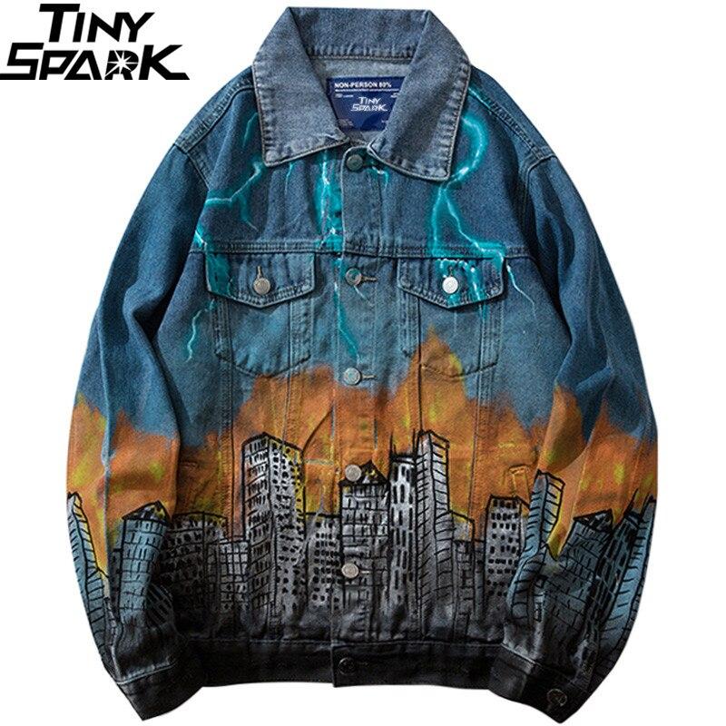 2019 Denim Jacke Monster Angriff Herren Hip Hop Denim Bomber Jacke Blitz Harajuku Streetwear Jeans Jacke Vintage Hipster-in Jacken aus Herrenbekleidung bei  Gruppe 1