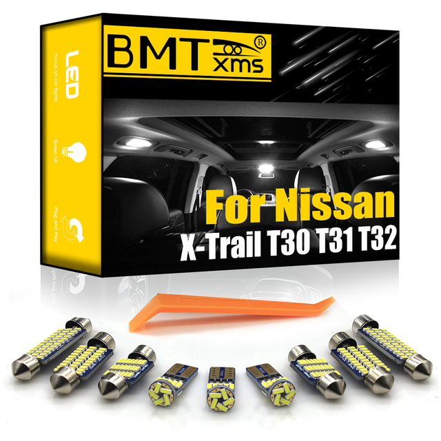 BMTxms Canbus For Nissan X-Trail X Trail T30 T31 T32 2001-2020 Vehicle LED Interior Dome Map Roof Light kit Car Lamp Accessories 1