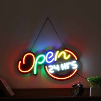 LED Open Sign Neon LED Light Bulb Handmade Commercial Lighting Business Shop Display Wall Decoration 60x34x3Cm US Plug
