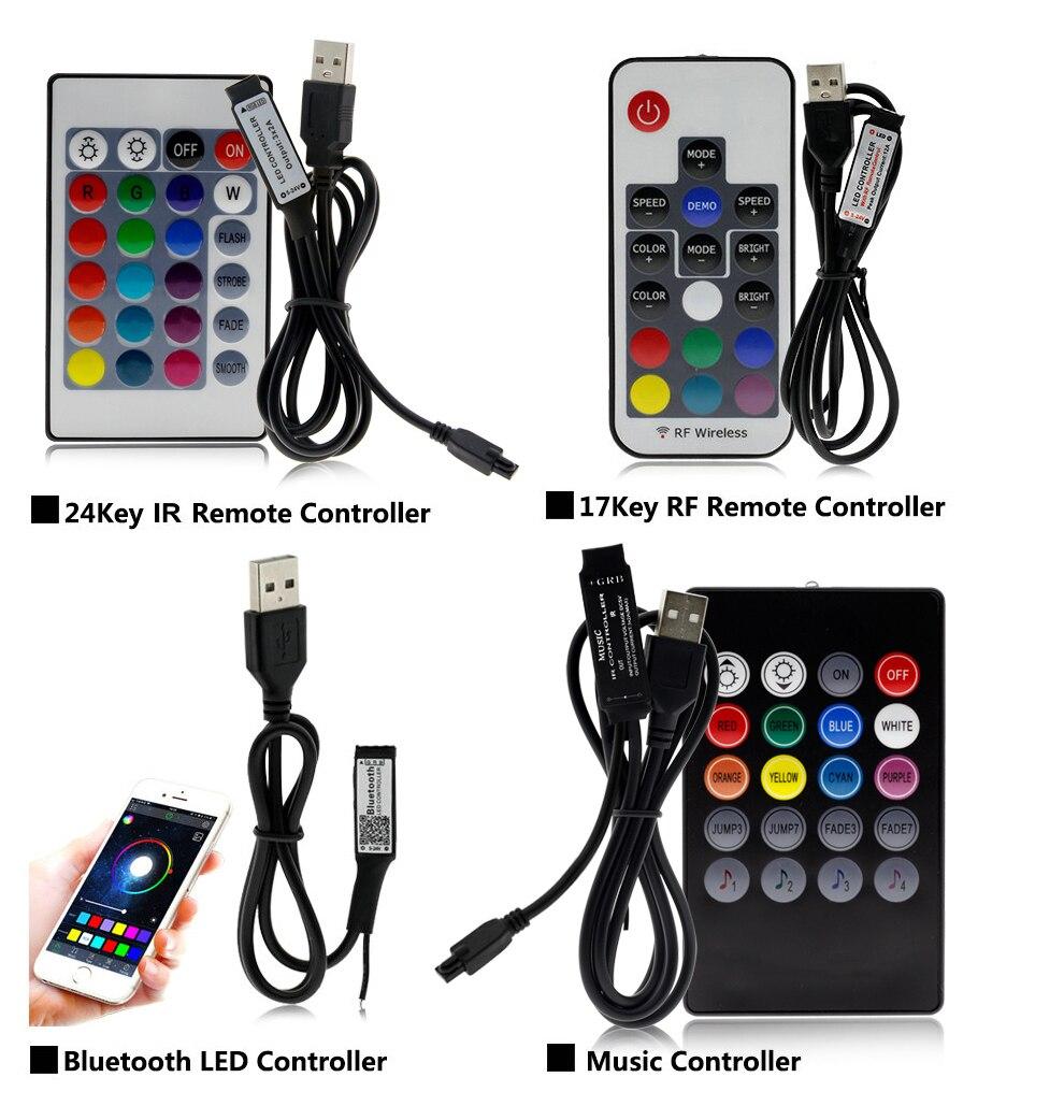 H9d2ebb142b6344f8ab85a1cb8deb1113w USB LED Strip 5050 RGB Changeable LED TV Background Lighting 50CM 1M 2M 3M 4M 5M DIY Flexible LED Light.