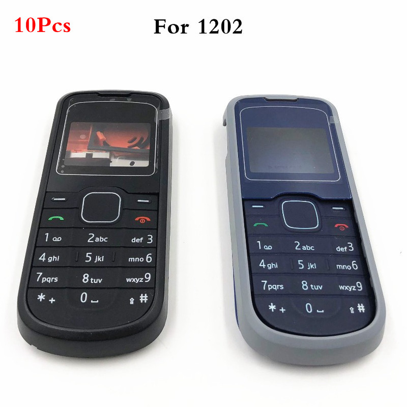 10Pcs/lot For <font><b>Nokia</b></font> <font><b>1202</b></font> New Full <font><b>Housing</b></font> Case Cover Front Frame With Key Board Display Glass+Middle Frame+Back Cover image
