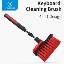 Cepillo para limpieza de teclado 4 en 1 multifunción, Herramientas de limpieza de ordenador, eliminación de polvo en huecos y esquinas, cepillo de limpieza para jugadores