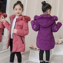 2019 New Arrival Children Winter Jacket for Girls Kids Hooded Warm Coats Cotton Padded Parka Girls Cartoon Print Unisex Outwear
