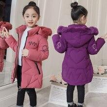 2019 New Arrival dziecięca kurtka zimowa dla dziewczynek dzieci z kapturem ciepłe kurtki ocieplana Parka z bawełny dziewczyny nadruk kreskówkowy Unisex znosić