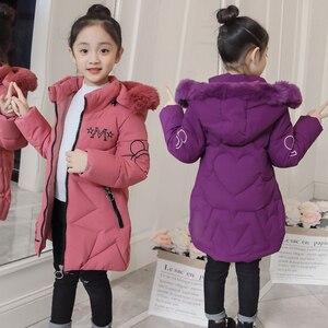 Image 1 - 2019 neue Ankunft Kinder Winter Jacke für Mädchen Kinder Mit Kapuze Warme Mäntel Baumwolle Gepolsterte Parka Mädchen Cartoon Print Unisex Outwear